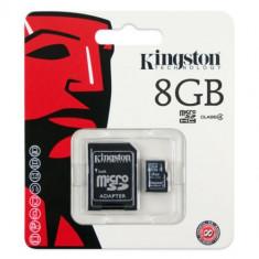 CARD microSD 8GB KINGSTON CU ADAPTOR SD CLASS 4