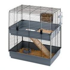 Cușcă pentru rozătoare CAVIE 80 DOUBLE, gri