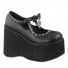 Pantofi platforme DEMONIA Keara 14, masura 39 - Gheata dama, Culoare: Negru, Piele sintetica