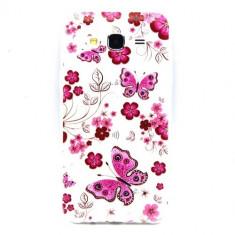 Husa Ultra-Slim Samsung Galaxy J5 2015 Gel TPU Butterfly and Flower Design - Husa Telefon Nokia