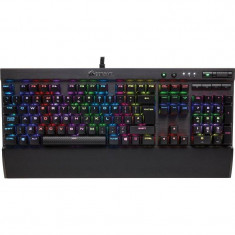 Tastatura gaming mecanica Corsair K70 LUX RGB LED Cherry MX Red Layout EU Black - Tastatura PC