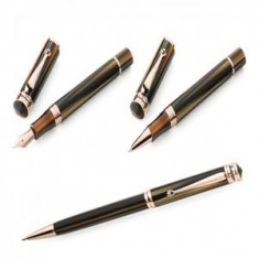 Set Stilou, Roller si Pix Rose Gold Brown Emperador - by Montegrappa