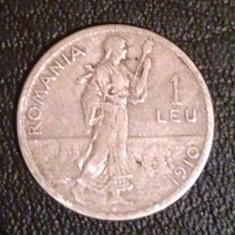 Moneda Romania 1 Leu 1910, Argint
