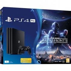 Consola SONY PlayStation 4 PRO (PS4 PRO) 1TB, negru + Star Wars Battlefront II