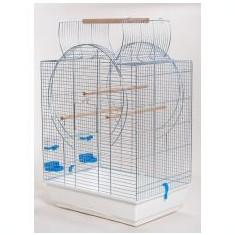 Colivie pentru papagali EMMA CABRIO cromată - 54 x 39 x 73cm - Cusca, cotet, tarc si colivie