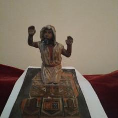 Figurina metal veche interbelica-arab la rugaciune