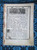 FRAGMENT din PARACLISUL MAICII DOMNULUI (aprox. 1850 - 8 file, alfabet chirilic)