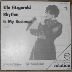 Vinyl/vinil Ella Fitzgerald(jazz) – Rhythm Is My Business, Germany, disc ca nou - Muzica Jazz