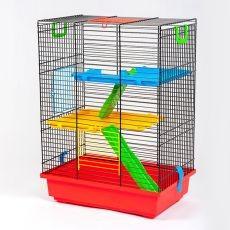 TEDDY II color - cusca pentru hamsteri cu accesorii din plastic foto mare