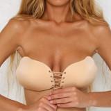 Cumpara ieftin Sutien Sexy Invizibil Push up Silicon Auto Adeziv
