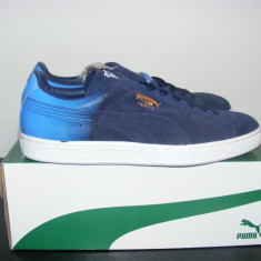 Adidasi PUMA Suede Classic Blur Navy 359098-02 nr. 44 - Adidasi barbati Puma, Culoare: Albastru, Piele intoarsa