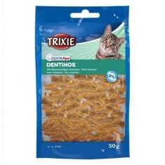 Bucățici de recompensă pentru pisici Dentinos - pentru dentiție, 50 g - Hrana pisici