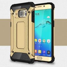 Husa Samsung Galaxy S6 Edge - Hybrid Armour Gold - Husa Telefon
