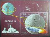 YEMEN A.R.  -  APOLLO 8, 1968,  1 S/S, NEOB.  -  YAR 050, Spatiu