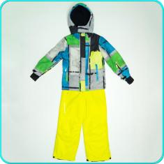 Costum—salopeta ski / iarna, impermeabil, gros, YIGGA → copii | 8—9 ani | 134 cm, Marime: Alta, Culoare: Din imagine, Baieti