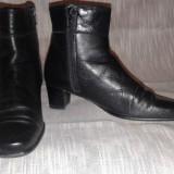 Cizme de dama noi, piele naturala, marimea 37, culoare negru