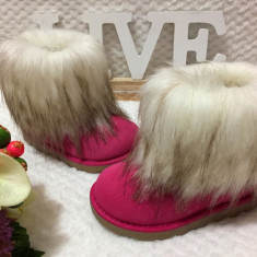Cizme roz imblanite de iarna blanita ghete fete copii fetite 24 26 28, Din imagine
