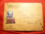 Plic circ.1954 francata 20 bani Luna Padurii si 35 bani Dansuri Antet Competrol