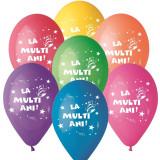 """Baloane latex 10""""/26cm inscriptionate """"La multi ani!'', Radar GI90.LMA"""
