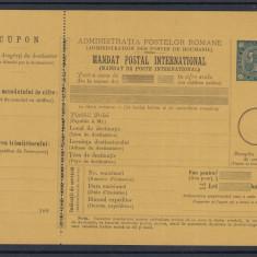 CIFRA IN 4 COLTURI 1890 - MANDAT POSTAL INTERNATIONAL CU NOMINAL 25 BANI