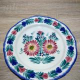 Farfurie vintage Henriot Quimper - Franta, cu motive florale