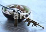 Pandantiv / Colier / Lantisor – cu Arma (U.S. Army), snur piele