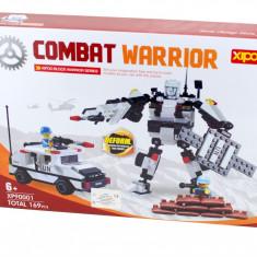 Lichidare de stoc! Jucarie constructiva Combat Warrior 169 piese, joc compatibil lego - XP90001