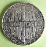 GERMANIA MEDALIE  ARGINT CALENDAR 1973 STARE AUNC