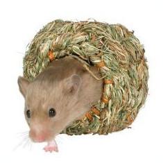 Căsuţă pentru rozător din iarbă - 10 cm