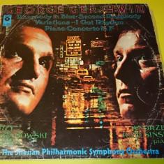 Vinil Disc George Gershwin rapsodie pian orchestra simfonica muzica clasica