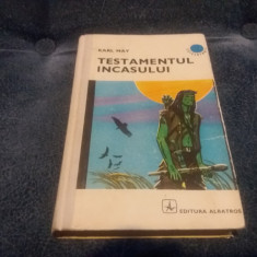 KARL MAY - TESTAMENTUL INCASULUI - Carte de aventura