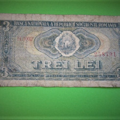 V- 3 LEI 1966! rara - Bancnota romaneasca