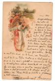 CPI (B9729 ) CARTE POSTALA - FELICITARE, CIRCULATA TECUCI-FOCSANI LA 1900