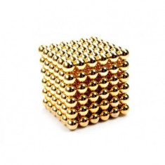 Neocube 216 bile magnetice 5mm neodymium - auriu - Jocuri arta si creatie