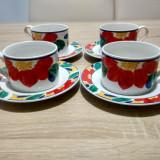 Set de cafea Gallery by Inhesion, viu colorat, motive florale