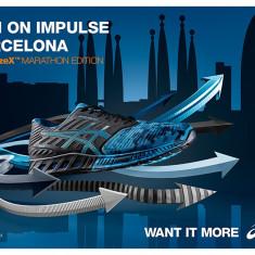 Adidasi Asics FuzeX T61TQ-9043 Barcelona Marato 2016 nr. 40 si 40, 5 - Adidasi barbati Asics, Culoare: Albastru, Textil