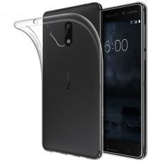 Husa silicon slim pentru Nokia 6, Transparent