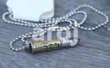 Pandantiv / Colier / Lantisor – cu glont inscriptionat