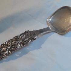 Rara LINGURA MARE argint MASIVA pentru Platouri NORVEGIA 1876 superba SPLENDIDA, Tacamuri