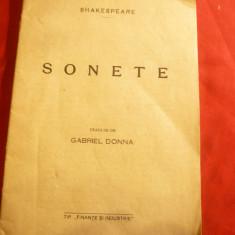 Shakespeare - Sonete , interbelica ,trad.G.Donna Ed.Finante Banci