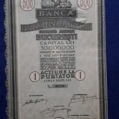 Actiune Banca Negustoreasca a Romaniei - Bucuresti