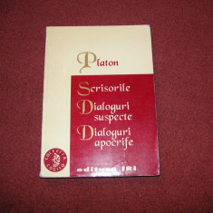 Platon - Scrisorile . Dialoguri suspecte . Dialoguri apocrife