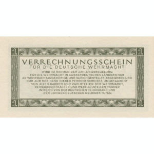 Germania   1 Reichsmark  ND  1944 Wehrmacht  P.M38  UNC