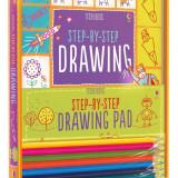 Usborne Step-by-Step Drawing Kit - Carte de colorat