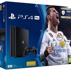 Consola SONY PlayStation 4 PRO (PS4 PRO) 1TB, negru + FIFA 18