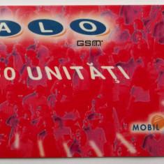 ROMANIA CARTELA ALO GSM 60 UNITATI ROSIE - PENTRU COLECTIONARI ** - Cartela GSM