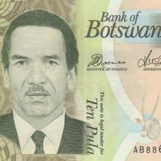 Botswana 10 Pula 2010 P.30b UNC - bancnota europa