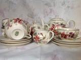 Set / serviciu de ceai, portelan vintage extrafin Zsolnay Pecs