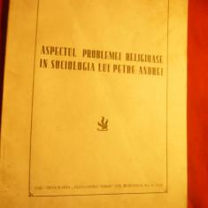 Gr.Pantiru -Aspectul problemei religioase in Sociologia lui Petre Andrei -1941