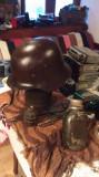 Casca militara germana si alte efecte soldat ww2